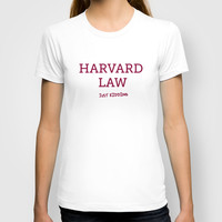 Harvard Law T-shirt by Trend | Society6