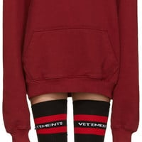 Burgundy 'May The Bridges' Hoodie