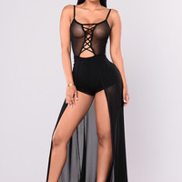 Mylene Mesh Dress - Black