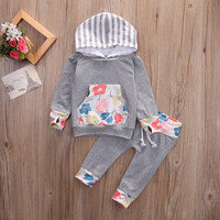 Baby Floral Hooded 2pc Set