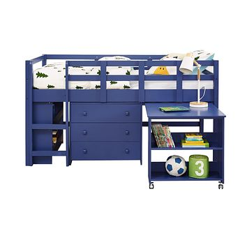 Adam Boys Loft Bed with Desk and Dresser in One