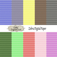 Blue Pink Brown Zebra Digital Paper Scrapbooking Scrapbook Paper Digital Download Digital Background Paper Instant Download