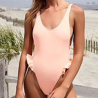 Backless One Piece Swimsuit Sexy Swimwear Backless Swimsuits Bathing Suits Beach Wear Swimming Suit