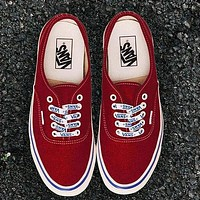 Vans Men And Women Letters With Shoes Old School Skateboard Shoes Canvas Shoes