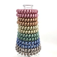 Shining Multi Colored Coil Hair Tie Set