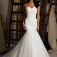 Mori Lee Wedding Dress Mermaid Strapless Sweetheart