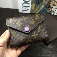 LV Women Shopping Leather Handbag Tote Wallet Bag Purple G-MYJSY-BB