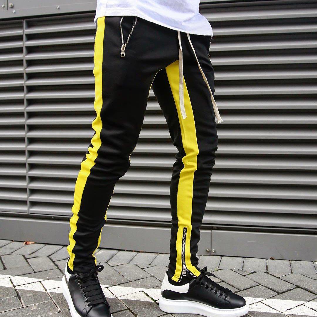 Image of Mens Joggers Casual Pants Fitness Men Sportswear Tracksuit Bottoms Skinny Sweatpants Trousers Black Gyms Jogger Track Pants