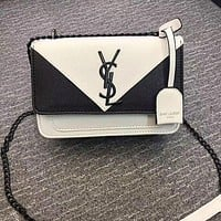 YSL Women Shopping Fashion Leather Chain Satchel Shoulder Bag Crossbody-16