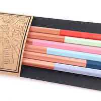 6 Paint Dipped Pencils