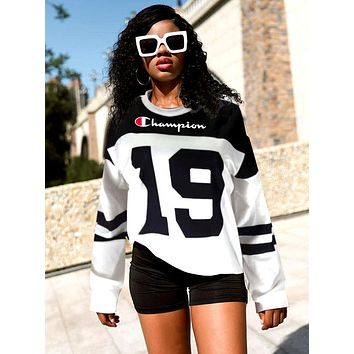 Champion Women Fashion High Quality Sweatshirts Top Pullover Sweater