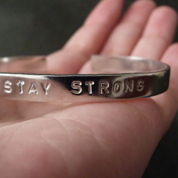 Stay Strong Jewelry, Stay Strong Bracelet, Stay Strong Cuff, Demi, Unisex Bracelet