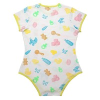 Adult Baby & Diaper Lover (ABDL) Snap Crotch Romper Onesuit - Nursery Pattern