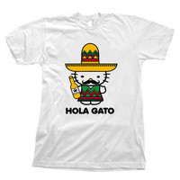 Funny Hello Kitty Shirt Rare Hola Gato by Tibones on Etsy