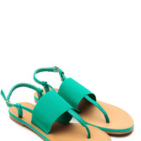 Bamboo Sea Foam Strapped Sandals