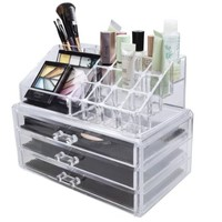 Amazon.com: NILECORP Acrylic Jewelry & Cosmetic Storage Display Boxes Two Pieces Set
