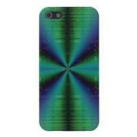 Blue Green Fractal Bow Cases For iPhone 5 from Zazzle.com