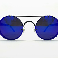 Lennon 2 Sunglasses with Blue Mirror by Spitfire