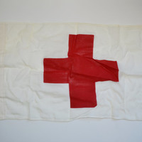 Vintage Red Cross Flag US Army Vietnam Era Flag Dated 1964 Red Cross Medical Symbol Flag Wall Hanging Home Decorating Trend