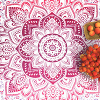 Hippy Mandala Tapestry, indian Dorm psychedlic tapestries, queen size bedding- Americana Decor's