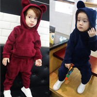 KEAIYOUHUO Children Clothing Boys Sets Winter Costume Kids Clothes Toddler Girl Baby Boys Clothes Sets Cotton Girls Sport Suits