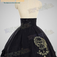 Last Chance: Bookish Beauty Classic Lolita:Steel Boned High Waist Open Back Skirt*Instant Shipping