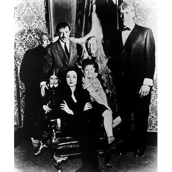 Addams Family Tv Poster Bw 11x17 Mini Poster