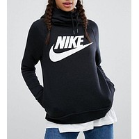 NIKE Women Fashion Hooded Sweater Pullover Hoodie
