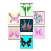 Etheral Wings Angel and Butterfly 1x1 by digitalexpressions