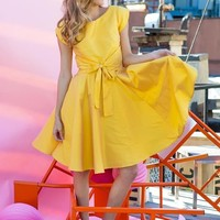 West End Dress Yellow