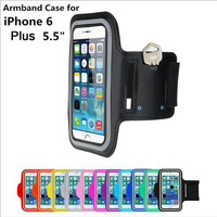 For Iphone 6s Plus case at hand GYM sports Arm band Case For iphone 6  Running phone holder For Plus 5.5'' Mobile Phone