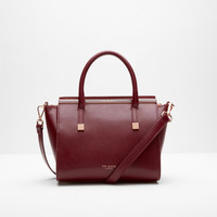 Crosshatch leather tote bag - Purple | Bags | Ted Baker ROW