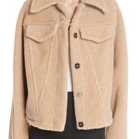 Off-White Bear Faux Shearling Track Jacket | Nordstrom