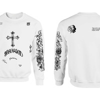 Justin Bieber Son of God tattoo shirt girl sweatshirt