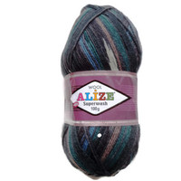 "Wool Yarn Destash, sock yarn skein, Variegated Sock Yarn, knitting yarn, Superwash Sock Yarn ""Alize"", Destash yarn, Sock yarn,"