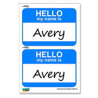 Avery Hello My Name Is - Sheet of 2 Stickers