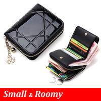 Patent Leather Women Short Wallets Ladies Small Wallet Zipper Roomy Coin Purse Female Credit Card Wallet Purses Money Bag 5012
