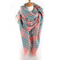 Checkered Infinity Scarf Plaid Scarves