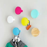 Kids Wall Hooks: Round Wall Knobs in Shelves & Hooks   The Land of Nod