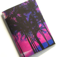 Passport Holder Cover Case -- Purple Pink Tropical