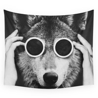 Society6 Wolf Glam Wall Tapestry