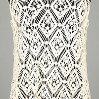 Cream Colored Embroidered Top