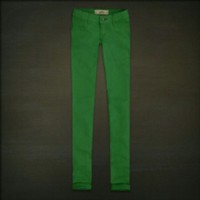 Green Hollister Skinnies 00