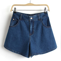 Summer High Rise Denim Pants Shorts [6034323969]