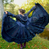 Mythic Thread - Gypsy sweater coat from recycled sweaters by SpiralGypsy Size S Ready To Ship