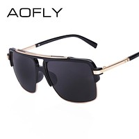 Classic Half Metal Sunglasses Men Designer Cool Glasses mirror Fashion Women's Sun glasses