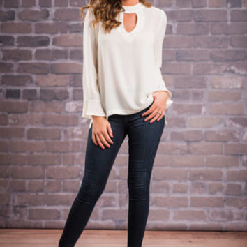 Coffee Date Blouse, White