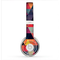 The Triangular Abstract Vibrant Colored Pattern Skin for the Beats by Dre Solo 2 Headphones
