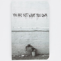 Denik You Are Not What You Own Notebook Grey One Size For Women 26092711501