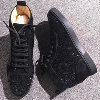 Christian Louboutin CL Rhinestone Style #1971 Sneakers Fashion Shoes Online